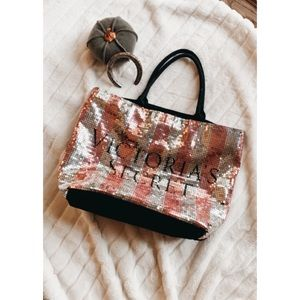 Pink Sequin Large Tote